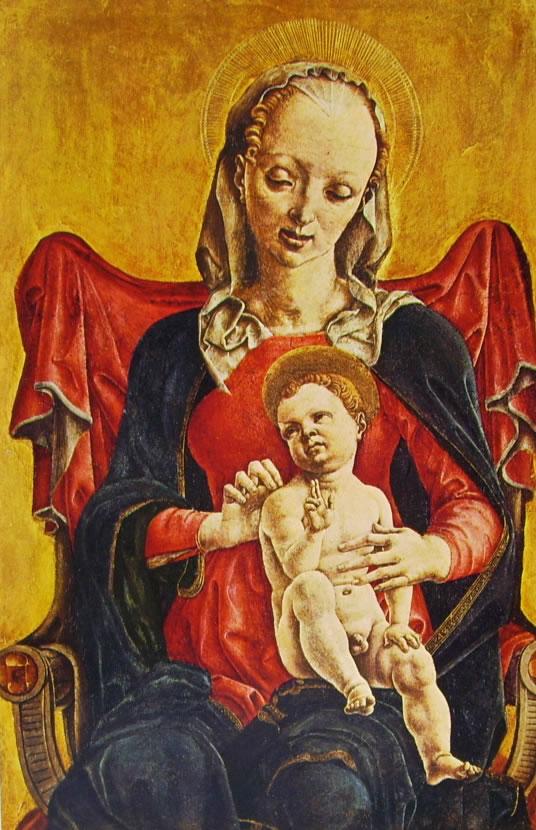 Cosmè Tura: Pannelli di polittico - Madonna con il Bambino