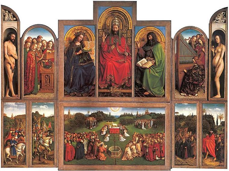 Jan van Eyck (1390 circa – 1441):Polittico dell'Agnello Mistico o Polittico di Gand