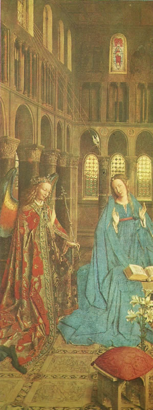 Jan van Eyck: L'Annunciazione di Washington