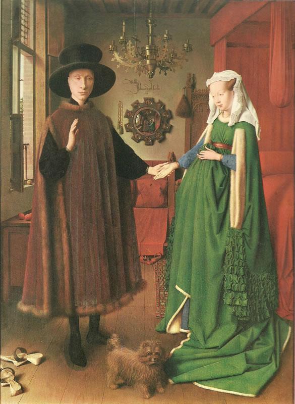 Jan van Eyck:I coniugi Arnolfini