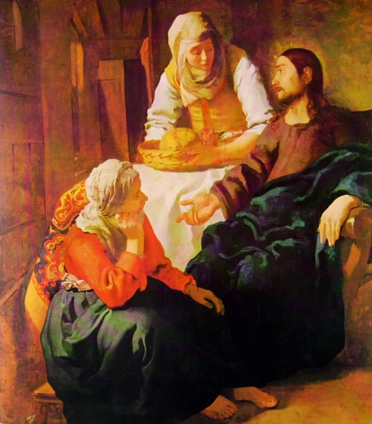 Jan Vermeer: Cristo in casa di Marta e Maria