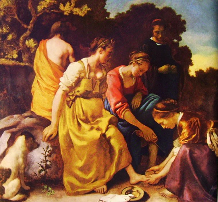 Jan Vermeer: La toeletta di Diana