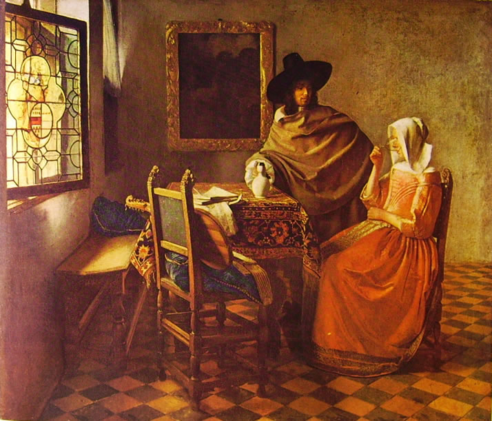 Jan Vermeer: Galantuomo e donna che beve