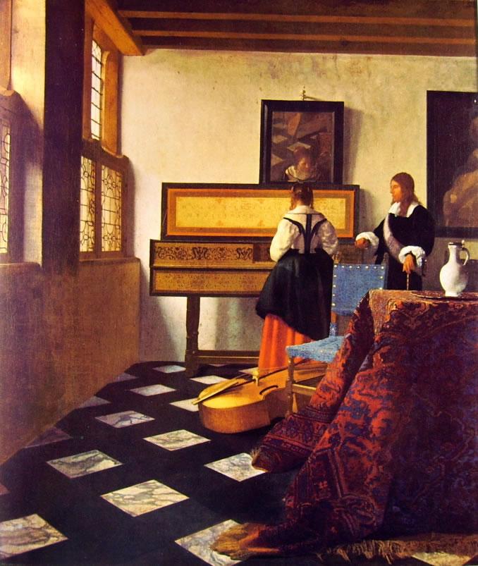 Jan Vermeer: Signora alla spinetta