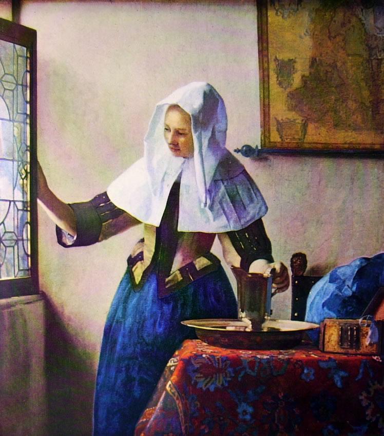 Jan Vermeer: Donna con brocca