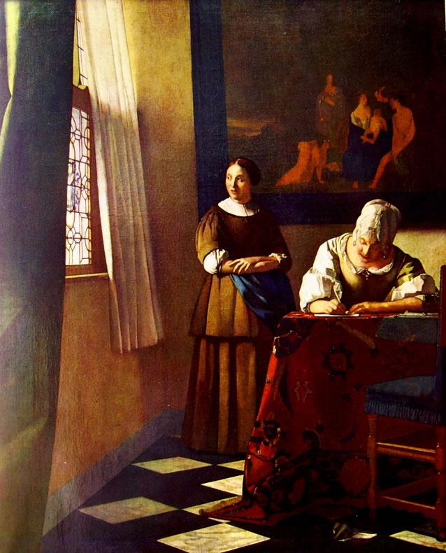 Jan Vermeer: La lettera