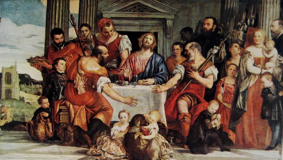 Il Veronese: La cena in Emmaus (Louvre a Parigi)
