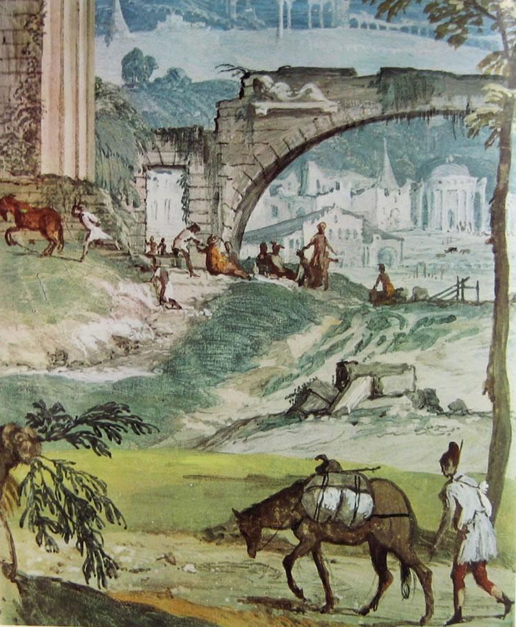 Il Veronese: Affreschi di Maser nella stanza di Bacco
