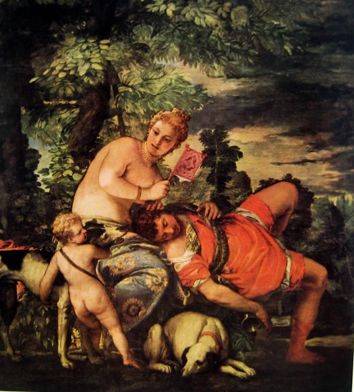 Il Veronese: Venere e Adone dormiente