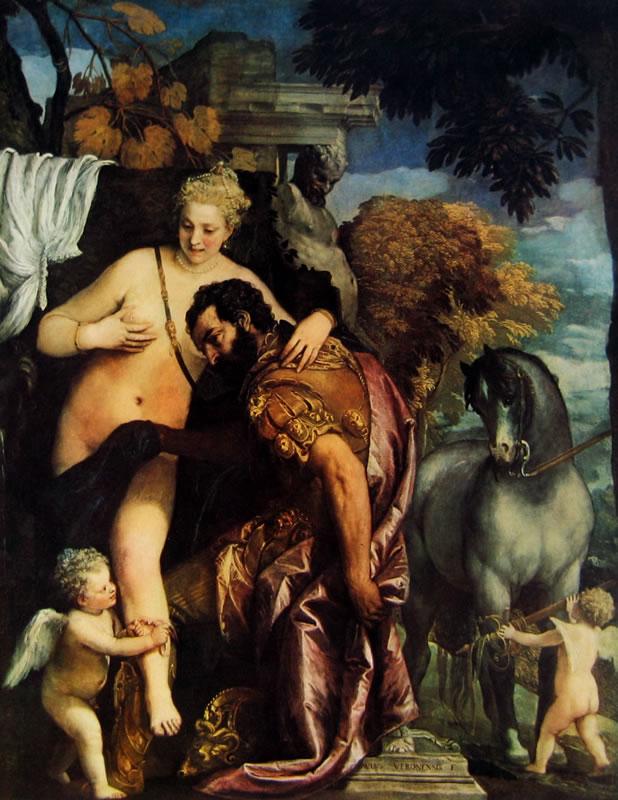 Il Veronese: Venere e Marte legati da Amore