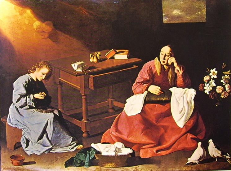 Francisco Zurbarán:Cristo fanciullo contempla la corona di spine