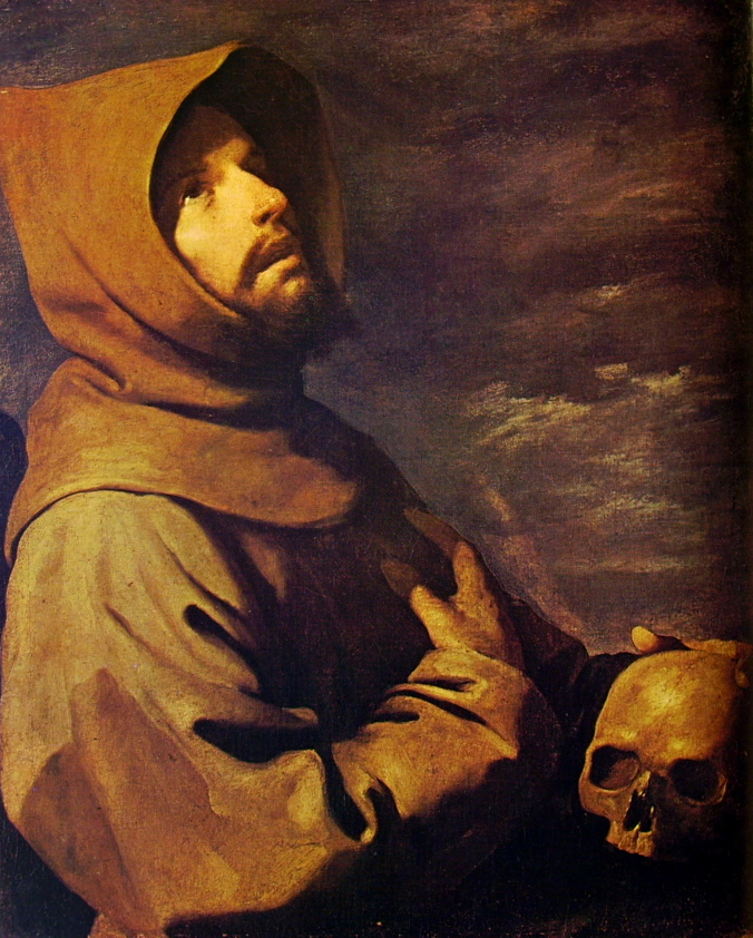 Francisco Zurbarán:San Francesco in meditazione