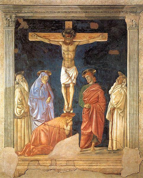 Andrea del Castagno: Crocifissione e santi