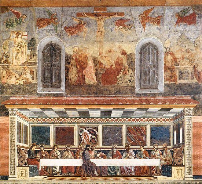 Andrea del Castagno: Cenacolo di Sant'Apollonia - L'Ultima cena (Sant'Apollonia)