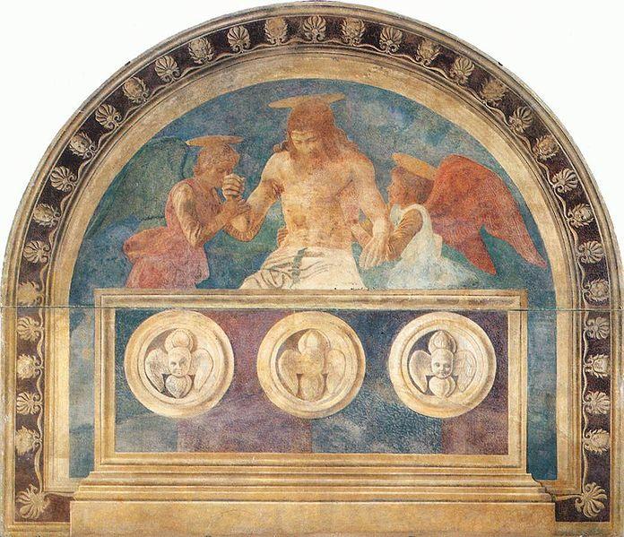 Andrea del Castagno: Cristo in pietà sorretto da due angeli