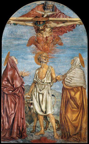 Andrea del Castagno: Trinità e santi (Firenze)
