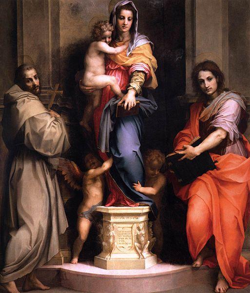 Andrea del Sarto: Madonna delle Arpie (Uffizi)