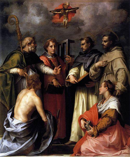 Andrea del Sarto: Disputa sulla Trinità (Galleria Palatina)
