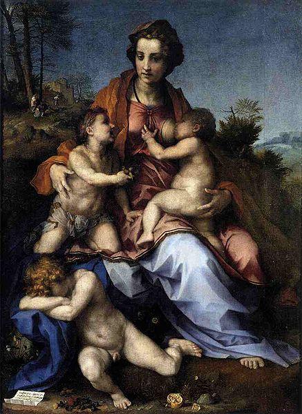 Andrea del Sarto: Carità (Louvre)