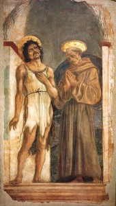 Santi Giovanni Battista e Francesco, 1454, affresco staccato, 190 x 115 cm., Firenze, Museo di Santa Croce.