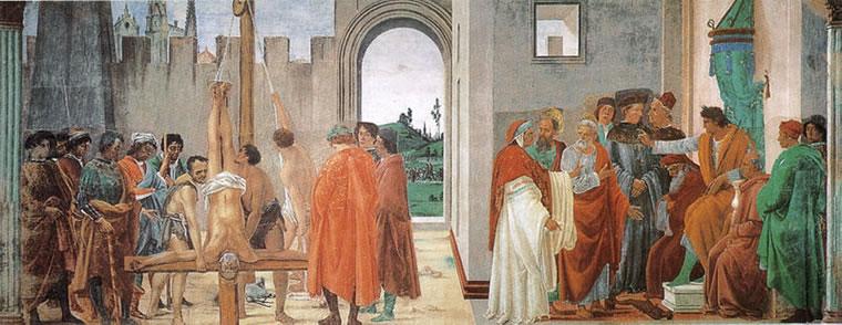 Filippino Lippi: Disputa di Simon Mago e crocifissione di san Pietro