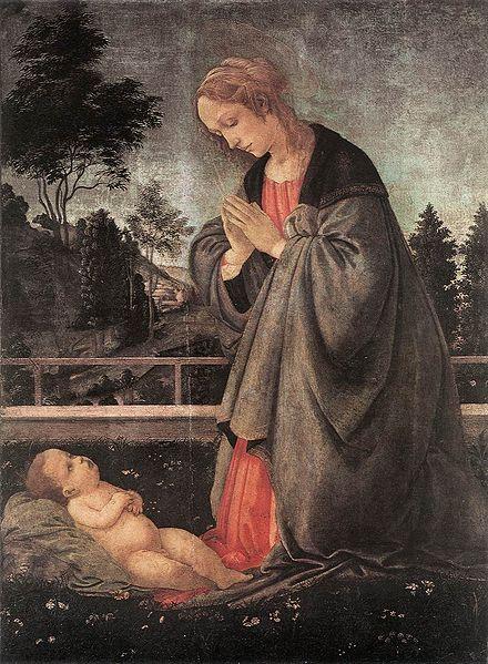 Filippino Lippi: Adorazione del Bambino