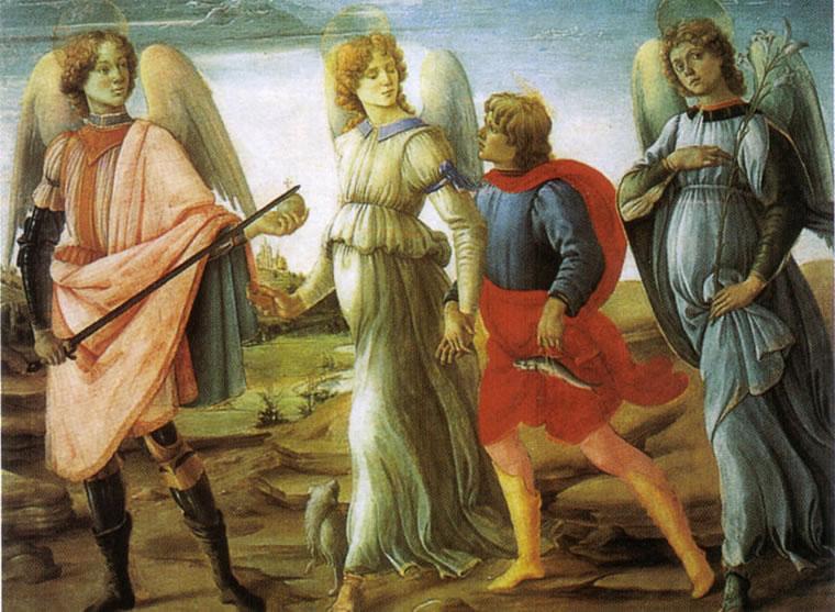 Filippino Lippi: Tre arcangeli e Tobiolo