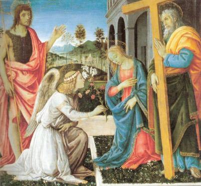 Filippino Lippi: Annunciazione e santi (Capodimonte)