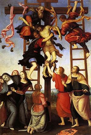 Filippino Lippi: Polittico dell'Annunziata - Deposizione