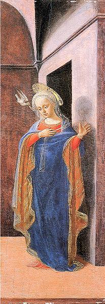 Annunciazione (Frick Collection) - Vergine annunciata