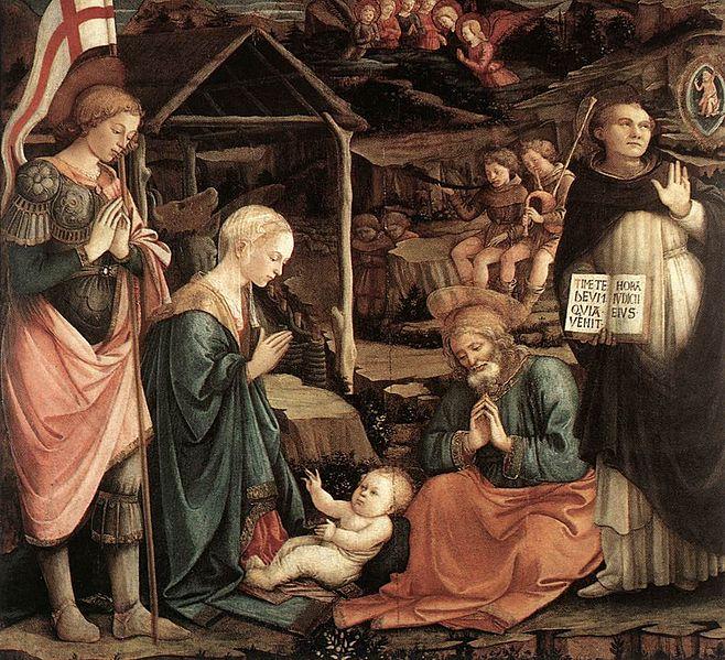 Filippo Lippi: Natività con san Giorgio e san Vicenzo Ferrer