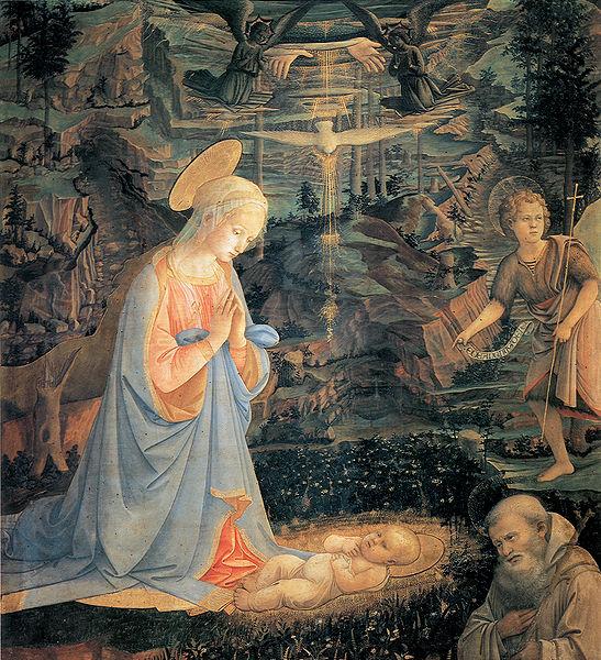 Filippo Lippi: Adorazione del Bambino (Monastero di Camaldoli)