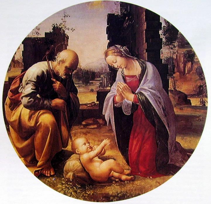 Fra Bartolomeo: Adorazione del Bambino (Galleria Borghese)