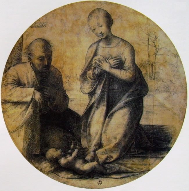 Fra' Bartolomeo: Tondo Visconti Venosta (cartone)