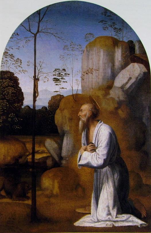 Fra Bartolomeo: San Girolamo in un paesaggio roccioso