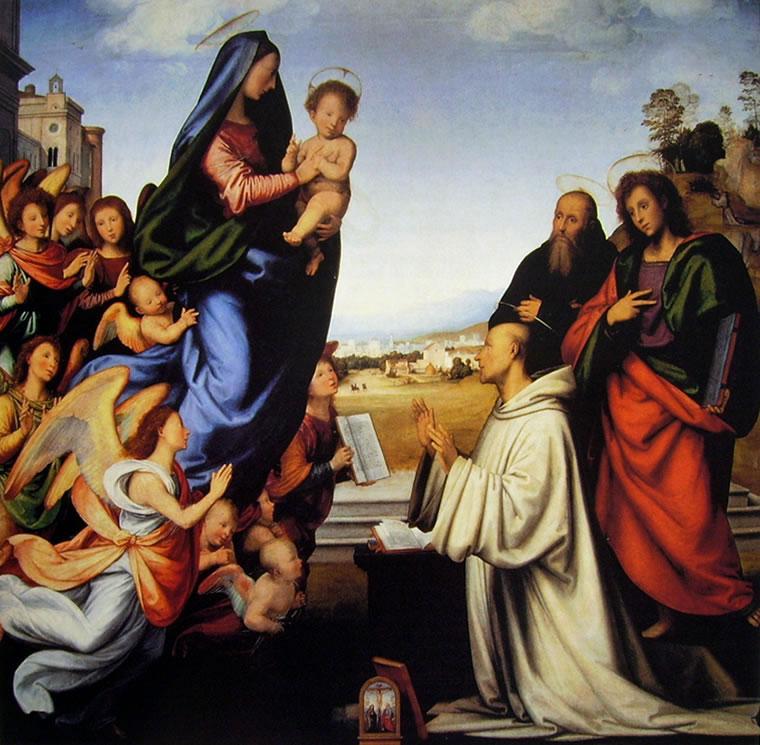 Fra' Bartolomeo: La Visione di San Bernardo (Uffizi)