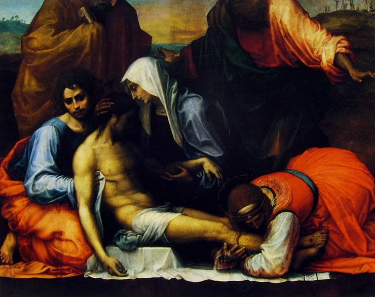 Fra' Bartolomeo: Pietà con i Santi Giovanni Evangelista, Maria Maddalena, Pietro e Paolo