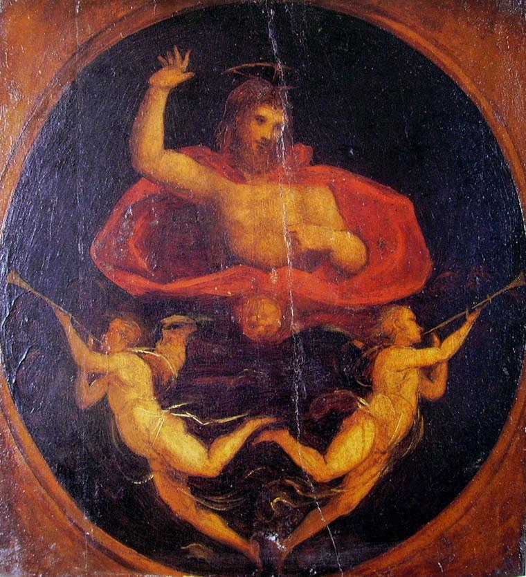 Fra' Bartolomeo: Cristo Giudice fra due Angeli trombettieri