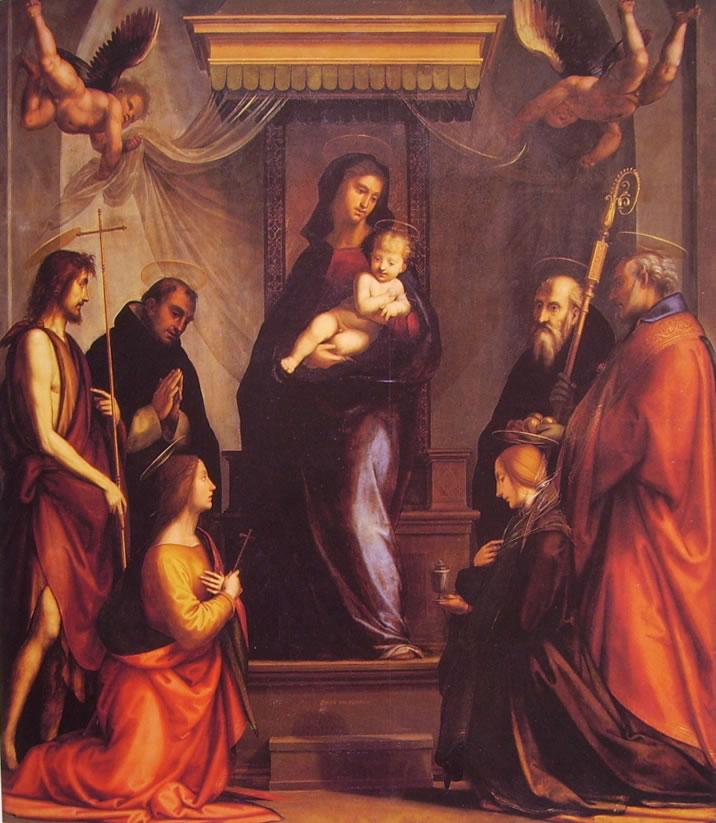 Fra' Bartolomeo: Madonna col Bambino e sei santi (Chiesa di S. Marco)