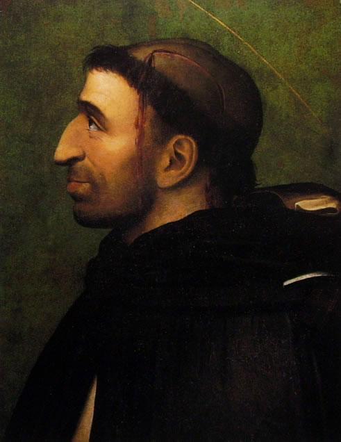 Fra' Bartolomeo: Ritratto di Girolamo Savonarola in sembianze di San Pietro Martire