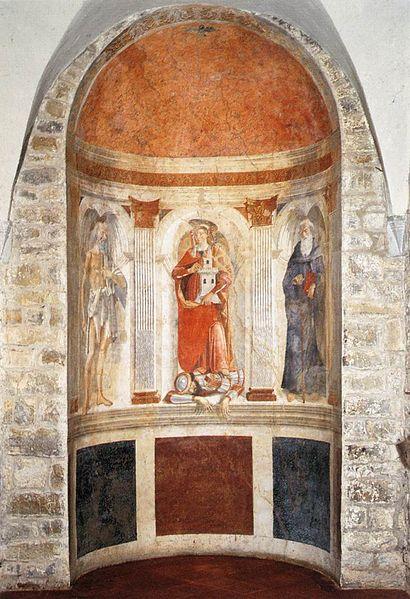 Domenico Ghirlandaio: Santi Girolamo, Barbara e Antonio Abate
