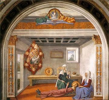 Annuncio della morte di santa Fina