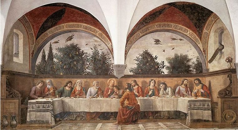 Domenico Ghirlandaio: Ultima Cena (Ognissanti Firenze)