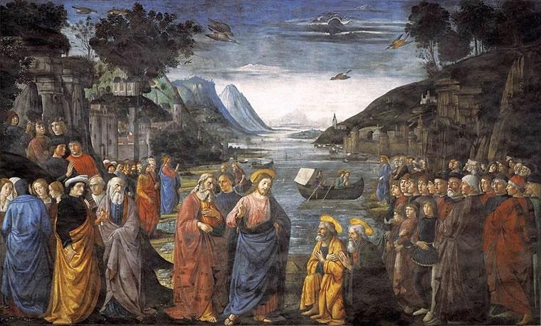 Domenico Ghirlandaio: Vocazione dei primi apostoli (Cappella Sistina)