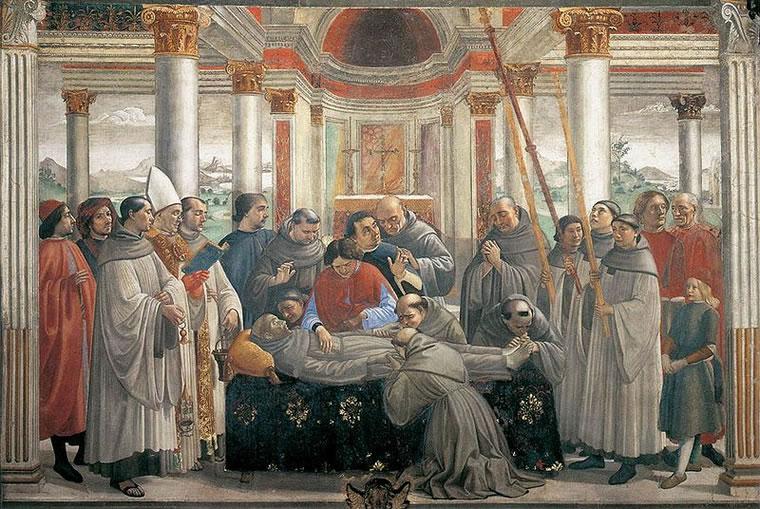 Domenico Ghirlandaio: Esequie di san Francesco