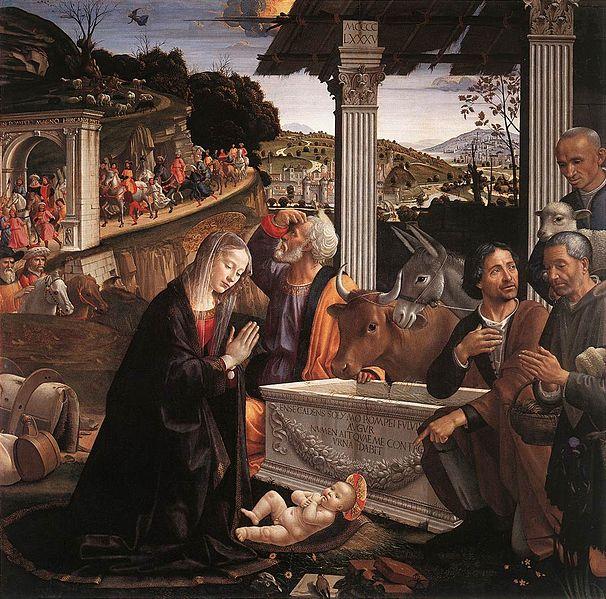 Domenico Ghirlandaio: Pala con l'Adorazione dei pastori