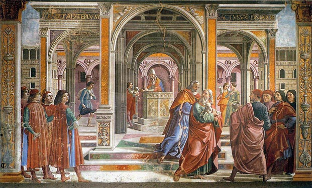 Domenico Ghirlandaio: Cacciata di Gioacchino (Santa Maria Novella)