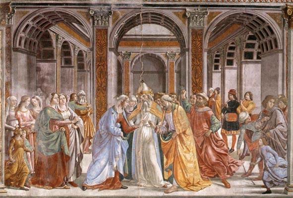 Domenico Ghirlandaio: A4: Sposalizio della Vergine