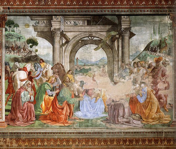 Domenico Ghirlandaio:Cappella Tornabuoni - Adorazione dei Magi