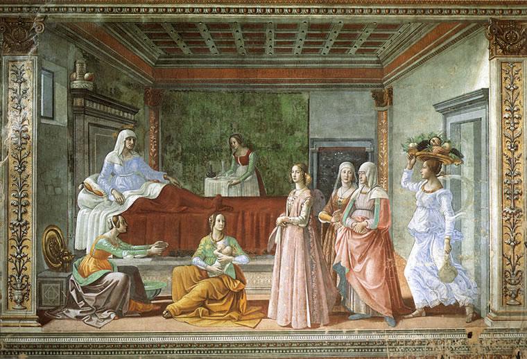 Domenico Ghirlandaio: Nascita del Battista